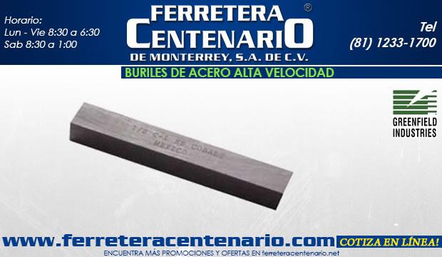 buriles acero alta velocidad ferretera centenario de monterrey herramientas corte metal