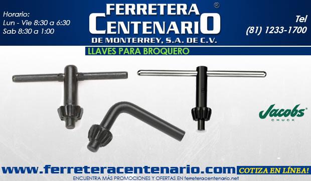 llaves para broqueros herramientas accesorios ferretera centenario monterrey corte metal