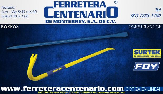 barras de uña, barras punta, herramientas albañil, albañileria, construcción, ferretera centenario de monterrey