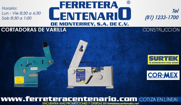cortadoras de varilla ferretera centenario de monterrey herramientas construccion