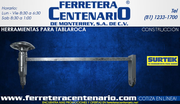 herramientas tablaroca construccion ferretera centenario de monterrey