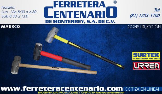 marros construccion herramientas ferretera centenario de monterrey