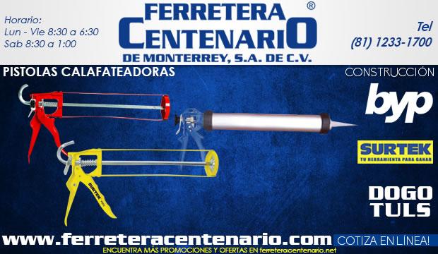 pistolas calafateadoras ferretera centenario de monterrey herramientas construccion