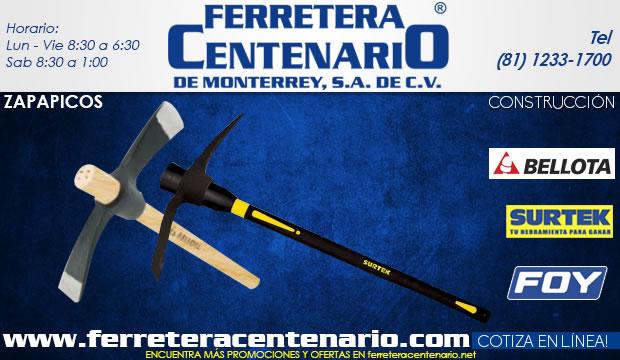 zapapicos herramientas ferretera centenario de monterrey Urrea construccion