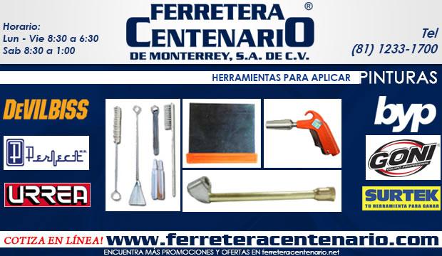 herramientas para aplicar pinturas ferretera centenario de monterrey