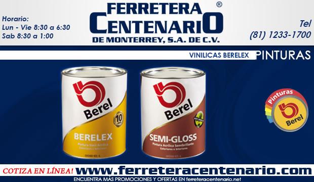 pinturas vinilicas berelex ferretera centenario de monterrey mexico Berel