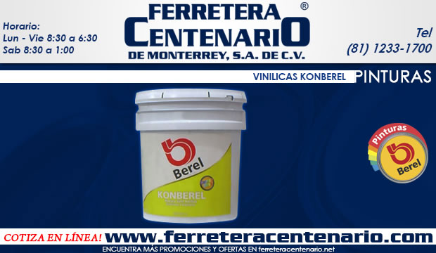 pinturas vinilicas kinberel Berel ferretera centenario de monterrey mexico