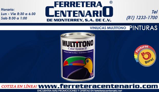 pinturas Berel vinilicas multitono ferretera centenario de monterrey mexico