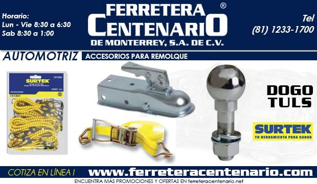 accesorios para remolque automotrices ferretera centenario demonterrey mexico automotriz