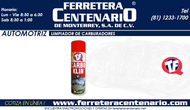 limpiador de carburadores TF ferretera centenario de monterrey mexico