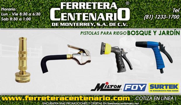 pistolas para riego bosque jardin ferretera centenario de monterrey mexico