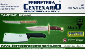 cuchillos ferretera centenario de monterrey campismo