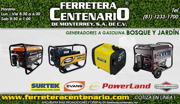 generadores a gasolina ferretera centenario de monterrey bosque jardin mexico