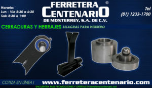 bisagras herrero ferretera centenario de monterrey herramientas
