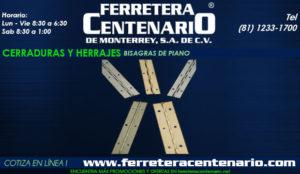 bisagras de piano ferretera centenario monterrey mexico