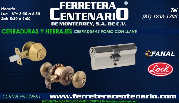 cerraduras pomo con llave ferretera centenario de monterrey mexico herrajes