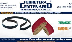 bandas de lija oxido aluminio ferretera centenario de monterrey mexico metal madera abrasivos
