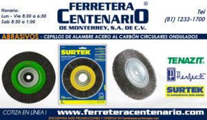 cepillos de alambre acero al carbon circulares ondulados abrasivos ferretera centenario monterrey mexico