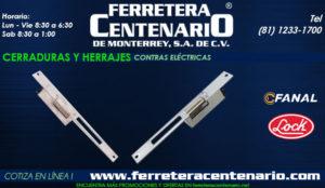 cerraduras y herrajes contras electricas ferretera centenario monterrey mexico