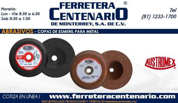 copas esmeril metal abrasivos ferretera centenario monterrey mexico