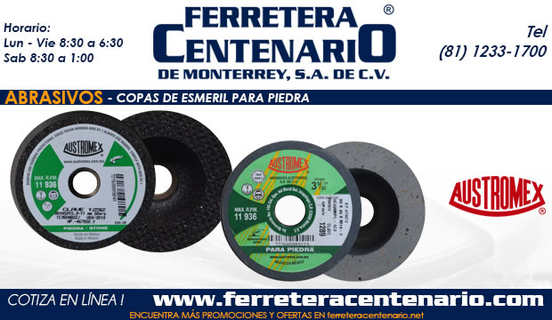 copas esmeril piedra ferretera centenario monterrey mexico abrasivos