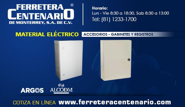 gabinetes registros accesorios material electrico ferretera centenario monterrey mexico