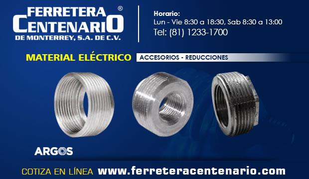 material electrico reducciones ferretera centenario monterrey mexico