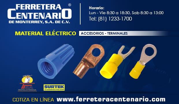 terminales material electrico ferretera centenario monterrey mexico