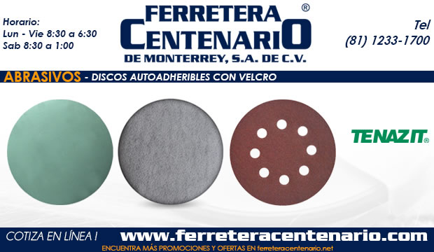 discos abrasivos autoadheribles velcro mexico monterrey ferretera centenario