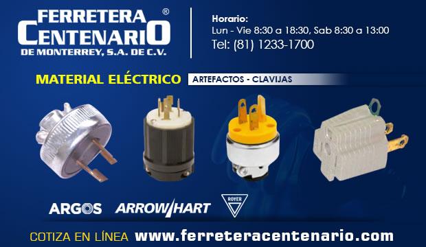 clavijas material electrico ferretera centenario monterrey mexico