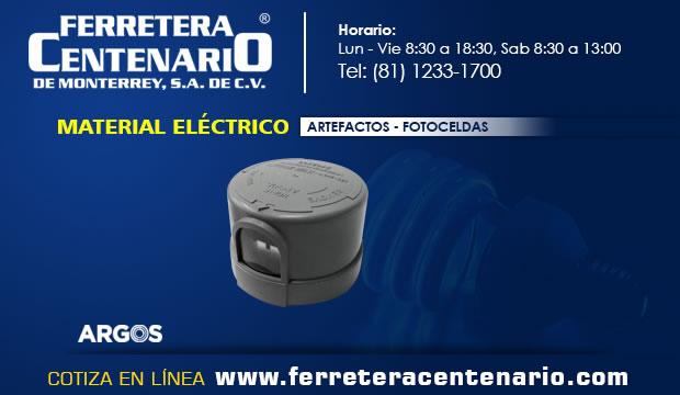 artefactos material electrico fotoceldas ferretera centenario monterrey mexico