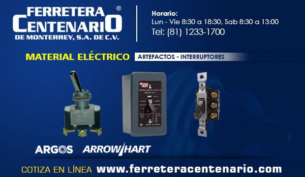 interruptores electricos artefactos ferretera centenario de monterrey mexico
