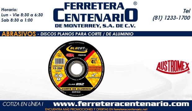 discos planos corte aluminio ferretera centenario monterrey mexico abrasivos