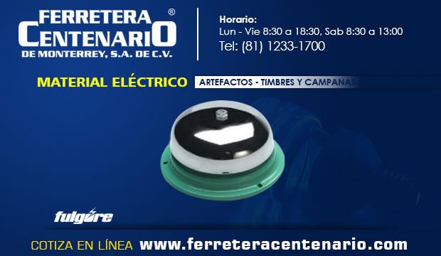 artefactos materiales electricos timbres campanasferretrea centenario monterrey mexico