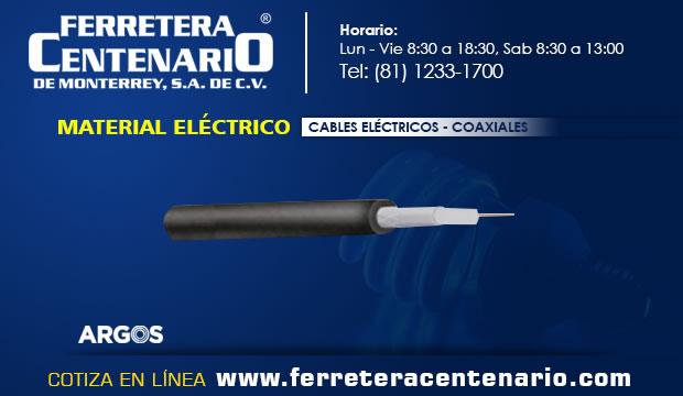 cables electricos coaxiales materiales ferrterea centenario monterrey mexico