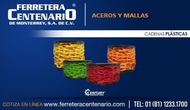 cadenas plasticas ferretrea centenario monterrey mexico aceros mallas