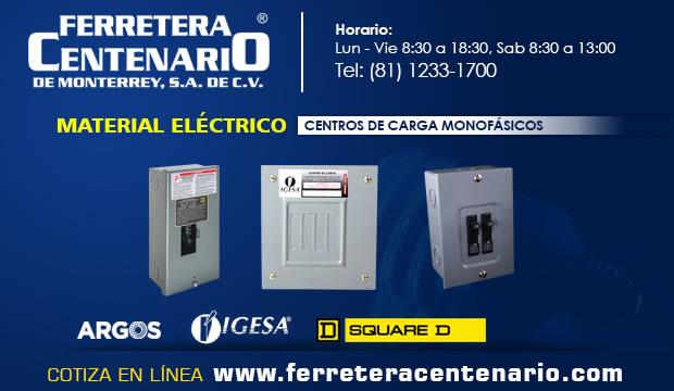 centro carga monofasico ferretera centenario monterrey mexico material electrico