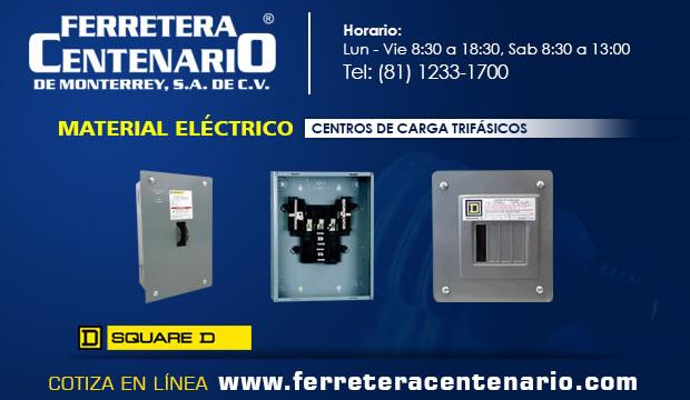 centro cargas trifasico material electrico ferretera centenario monterrey mexico
