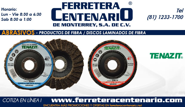 discos laminados de fibra abrasivos ferrterea centenario monterrey mexico