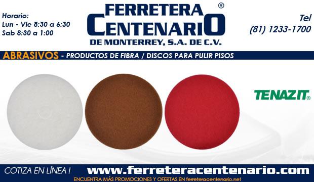 discos pulir pisos productos fibra abrasivos ferretera centenario monterrey mexico