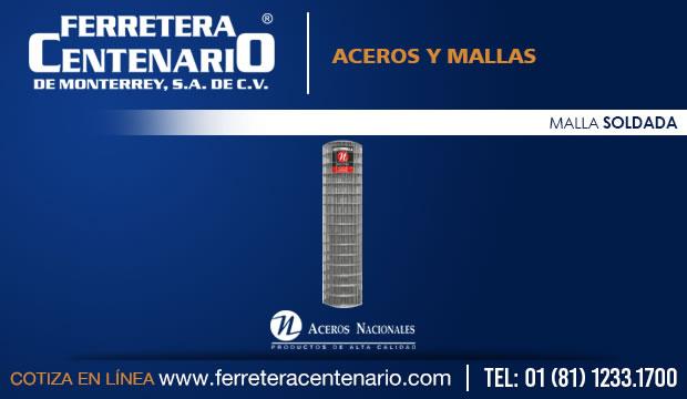 malla soldada ferretera centenario monterrey mexico aceros