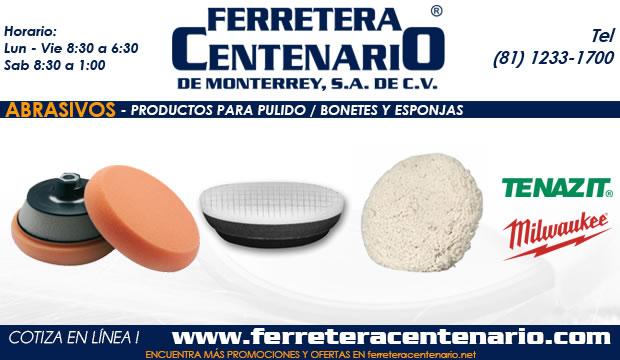 bonetes esponjas productos pulido abrasivos ferretera centenario monterrey mexico