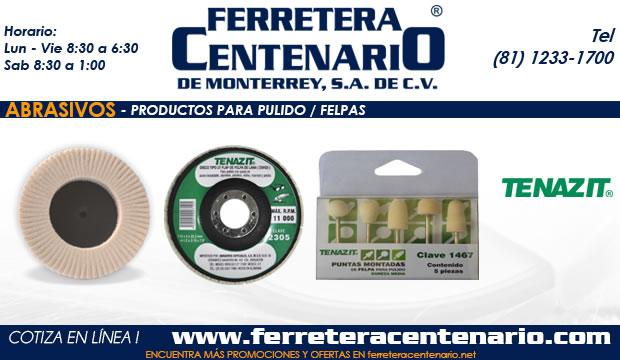 productos pulido felpas ferretera centenario monterrey mexico abrasivos