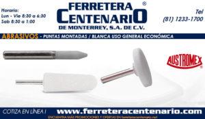 puntas montadas blancas uso general economicas ferretera centenario monterrey Mexico abrasivos