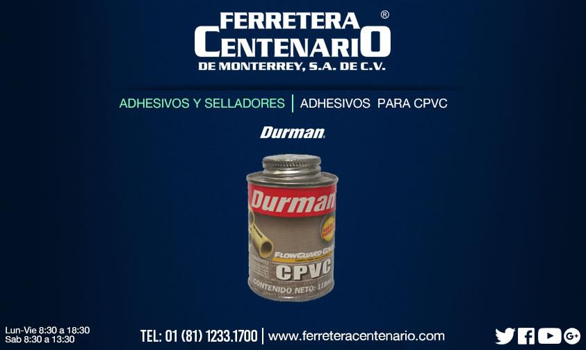 adhesivos cPVC selladores ferretera centenario monterrey mexico