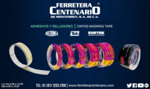 cintas masking tape ferretera centenario monterrey mexico adhesivos selladores