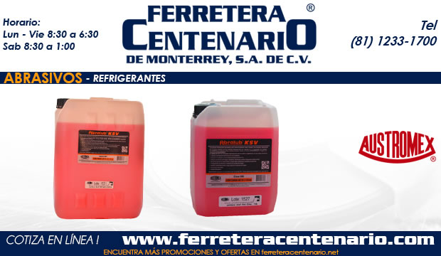refrigerantes abrasivos ferretera centenario monterrey mexico