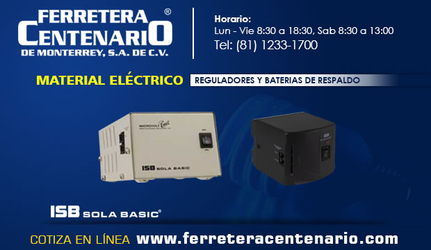 reguladores baterias respaldo ferretera centenario monterrey material electrico mexico