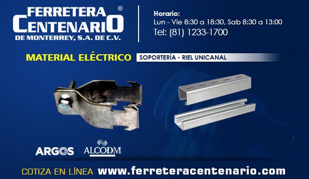 Soporteria Riel unicanal Ferretera Centenario Monterrey mexico