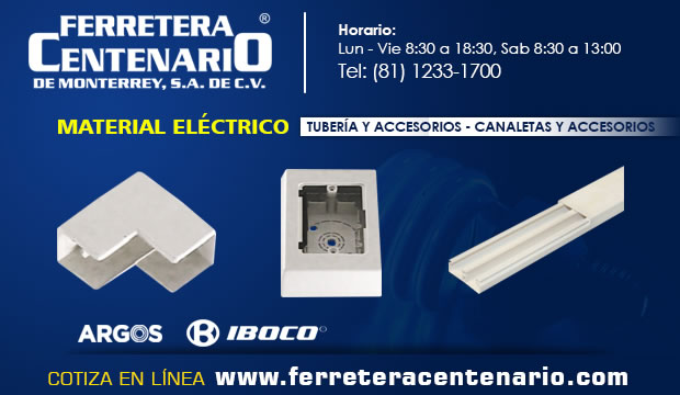 canaletas accesorios ferretera centenario mmonterrey mexico material electrico
